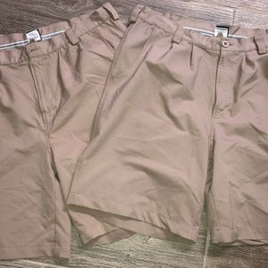 Men's UNDER ARMOUR Pleated Golf Shorts Lot 2 38